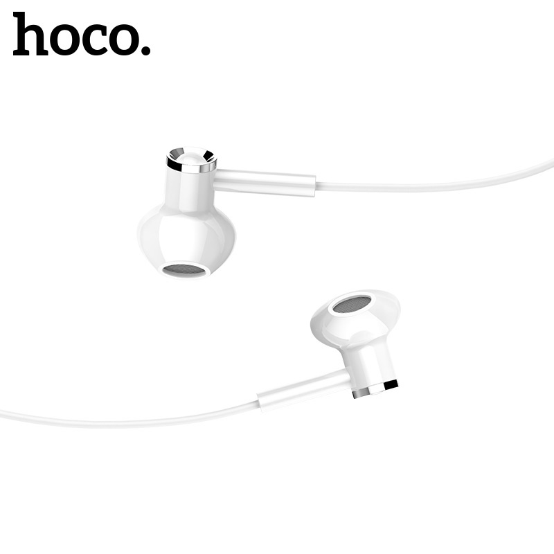 Hoco Canorous Wire Control Earphones with Micro-USB Phone White