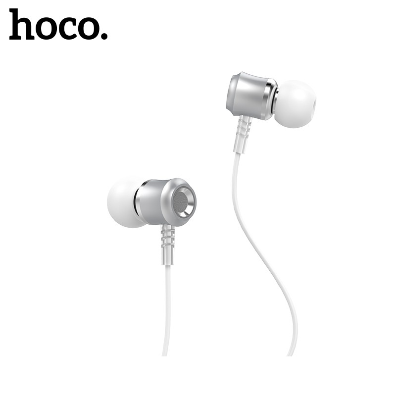 Hoco Jewel Sound Universal Earphones with Micro-USB Phone Silver