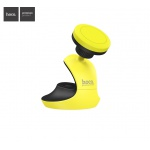 Hoco Accompanist Series Swan Suction Pad Magnetic Holder (Black and Yellow)
