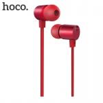 Hoco Full Harmony Wire Control Earphones with Mic (Red)