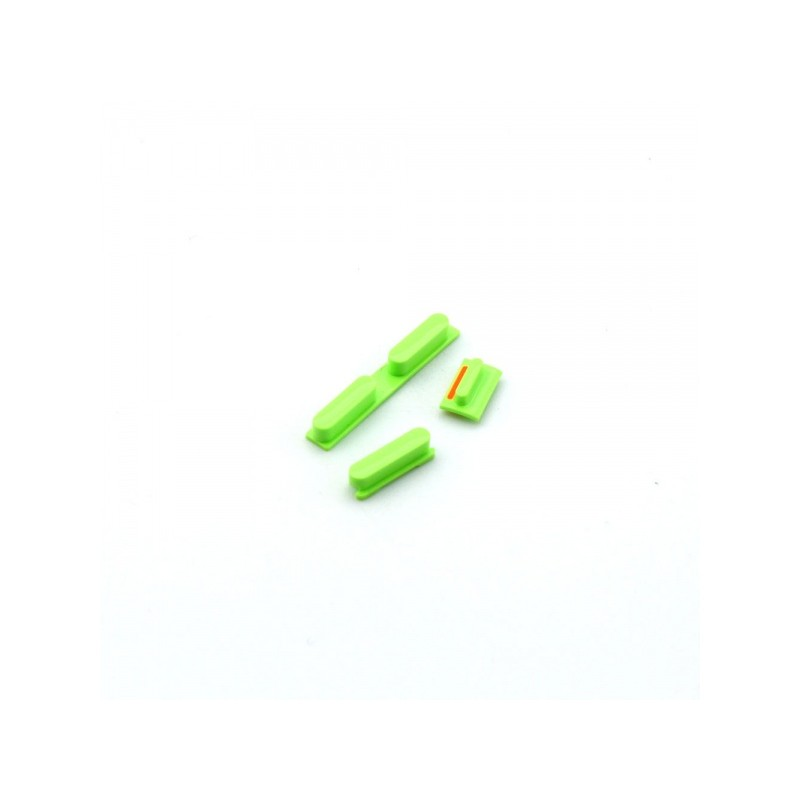 Side Buttons set (volume + power button) Green pro Apple iPhone 5C