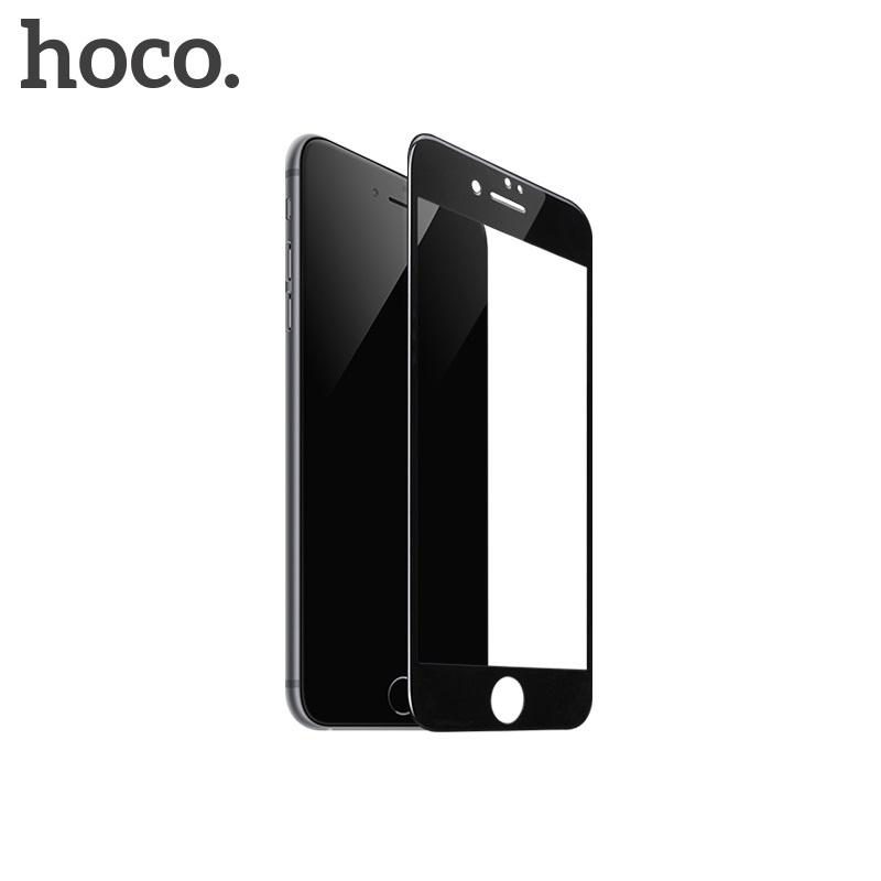 Hoco Shatterproof Edges Full Screen HD Glass for iPhone 7/8 Black