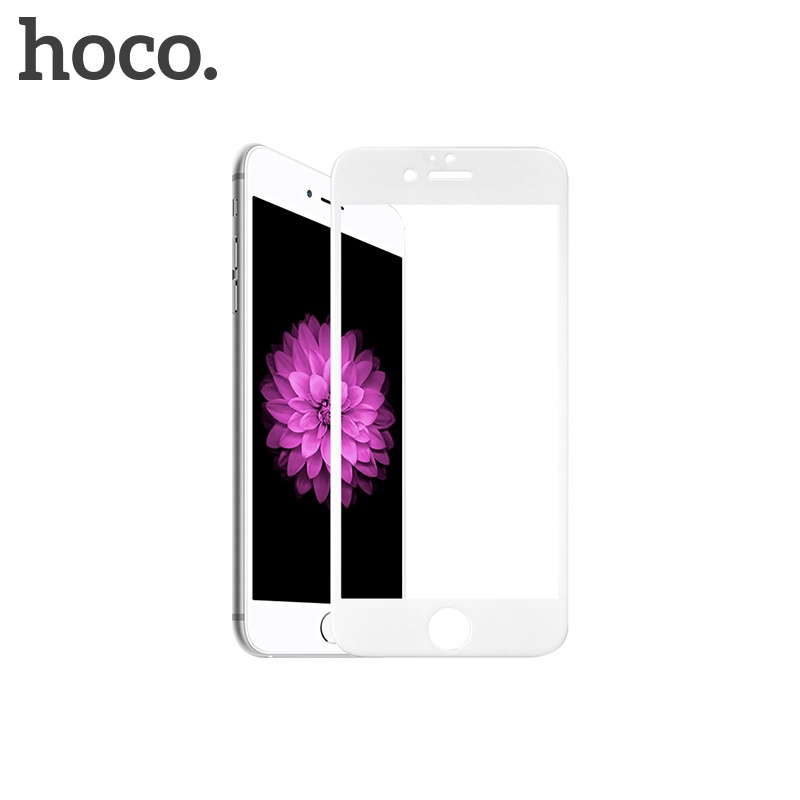 Hoco Shatterproof Edges Full Screen HD Glass for for iPhone 6/6S White