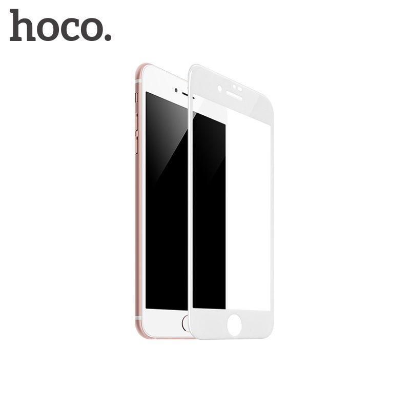 Hoco Fast Attach 3D Full-Screen HD Tempered Glass for iPhone 7/8 White