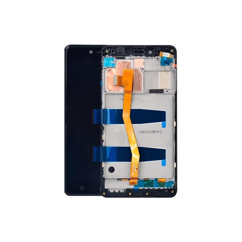 Lenovo K6 Note LCD + Touch + Frame (Assembled) Black