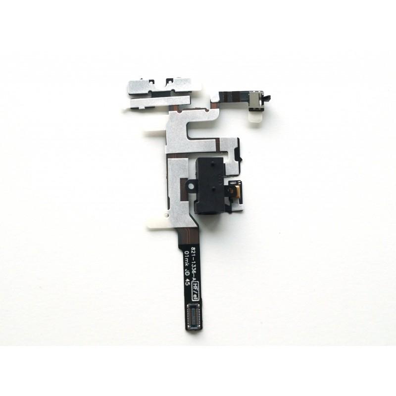 Audio Jack + Volume button flex connector Black pro Apple iPhone 4S