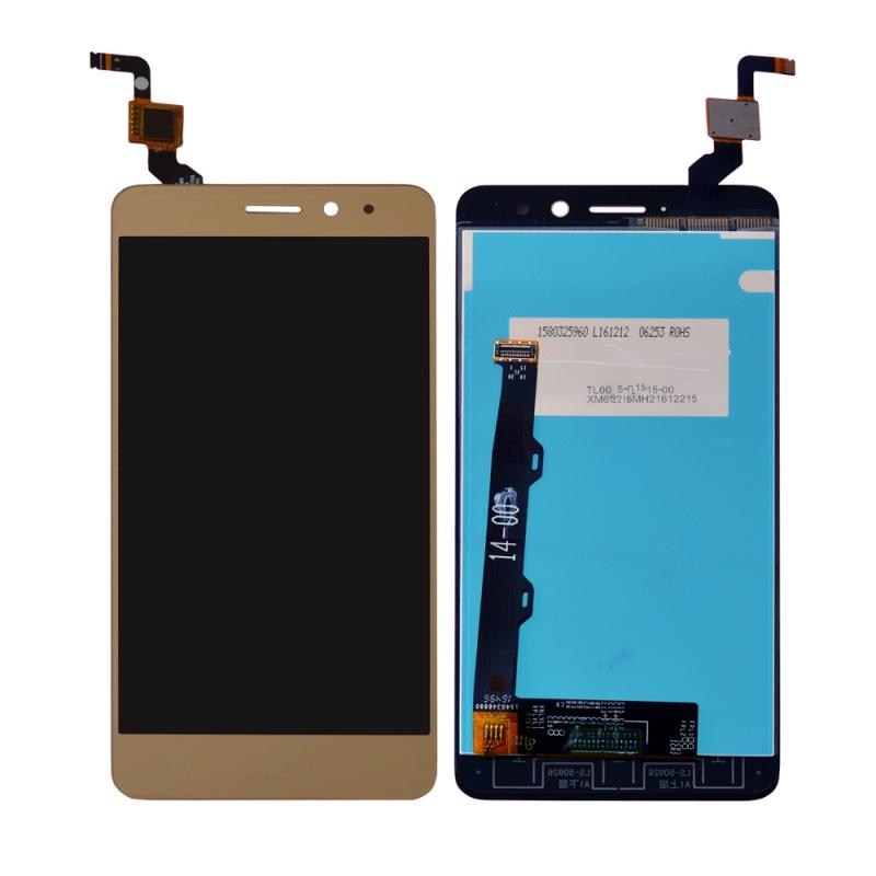 LCD + dotyk + rám pro Lenovo K6 (Dual SIM), zlatý