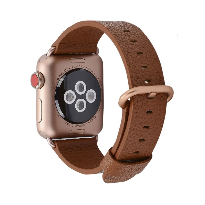 Leather Colour Backle Band For Apple Watch 38mm Brown