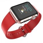 Leather Colour Backle Band For Apple Watch 38 / 40mm Red