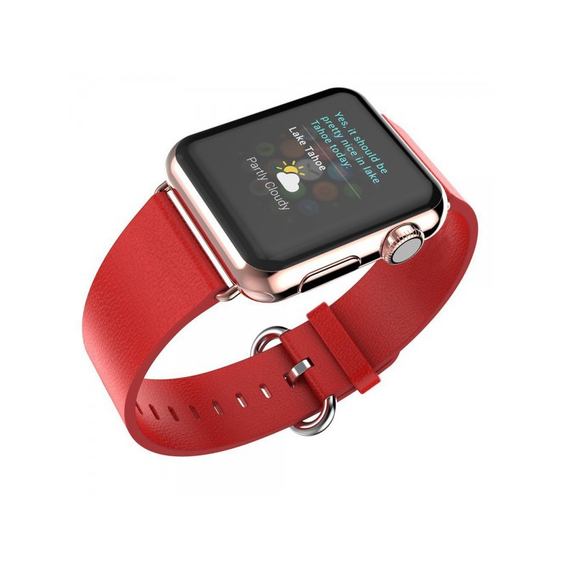 Leather Colour Backle Band For Apple Watch 42mm Red