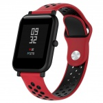Two Colored Circle Strap pro Xiaomi Huami Amazfit Bip (Red and Black)