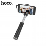 Hoco Graceful Mini Wire Control Aluminum Alloy Selfie Stick (Black)