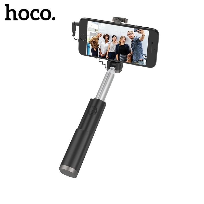 Hoco Graceful Mini Wire Control Aluminum Alloy Selfie Stick Black