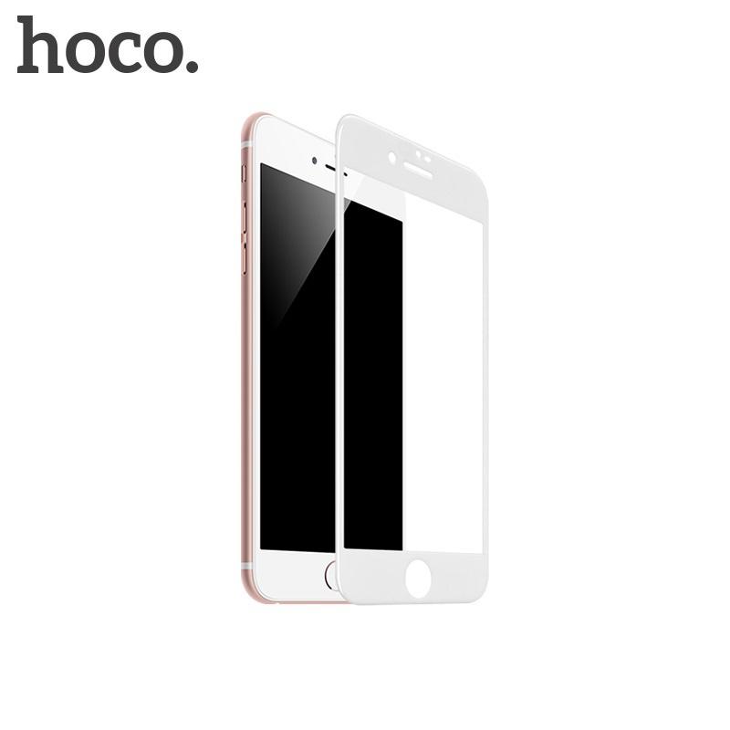 Hoco Shatterproof Edges Full Screen HD Glass for iPhone 7/8 White