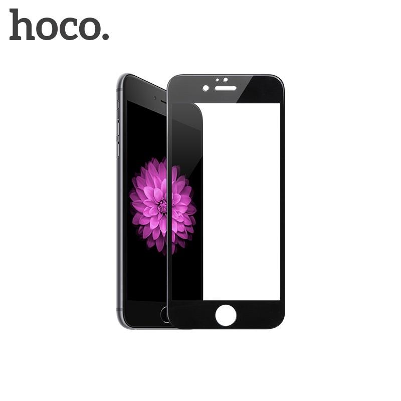 Hoco Shatterproof Edges Full Screen HD Glass for iPhone 6/6S Black