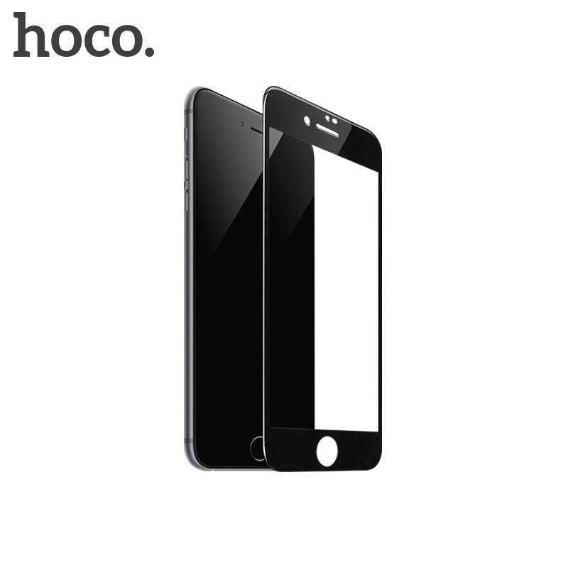 Hoco Fast Attach 3D Full-Screen HD Tempered Glass for iPhone 7/8 Black