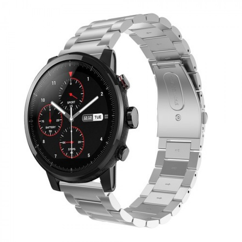 Stainless Steel Strap pro Xiaomi Huami Amazfit Pace/Amazfit 2 Stratos (Silver)