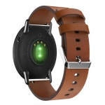 Genuine Leather Strap pro Xiaomi Huami Amazfit Pace / Amazfit 2 Stratos (Brown)