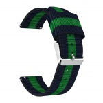 Stripes Nylon Strap pro Xiaomi Huami Amazfit Bip (Blue and Green)