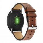White Line Leather Strap pro Xiaomi Huami Amazfit Pace / Amazfit 2 Stratos (Brown)