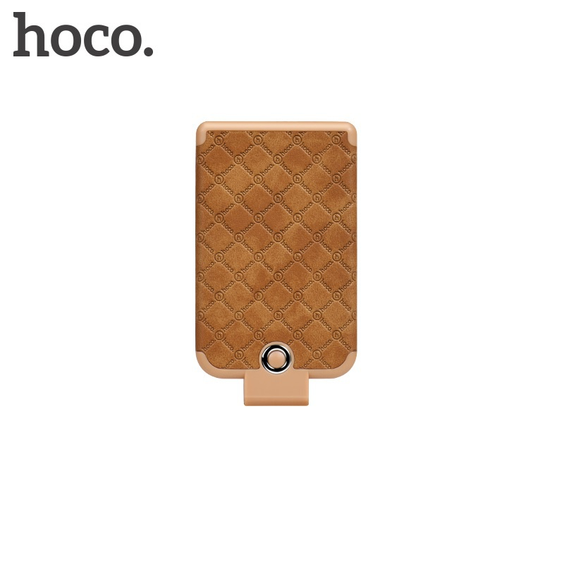 Hoco Tiny Cool Back Clipped Power Bank (4000mAh) Brown