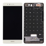 LCD + Touch + Frame (Assembled) pro Huawei P9 - White (OEM)