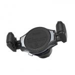 Hoco Wireless Charging Car Phone Holder Metal Grey