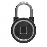 Smart Fingerprint Padlock Lock Black