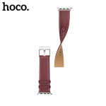 Hoco Duke Series Leather Strap Wine Red for Apple Watch Series 4 (44mm)