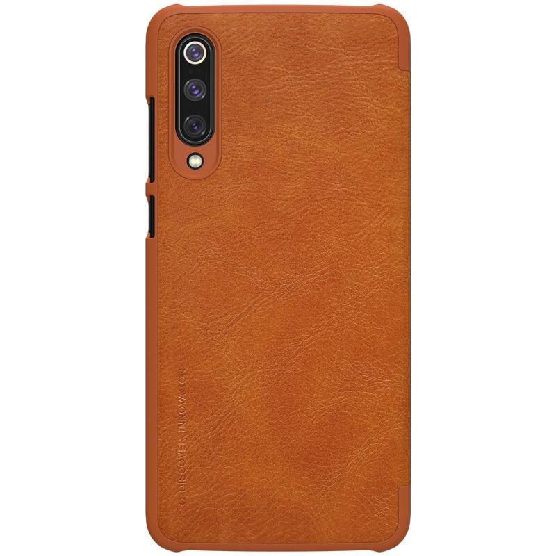 Nillkin Qin Leather Case pro Xiaomi Mi 9 Brown