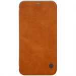 Nillkin Qin Leather Case pro Apple iPhone X / XS Brown