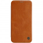 Nillkin Qin Leather Case pro Apple iPhone XS Max Brown