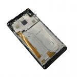 LCD + Touch + Frame (Assembled) pro Lenovo Vibe P1m Black (OEM)