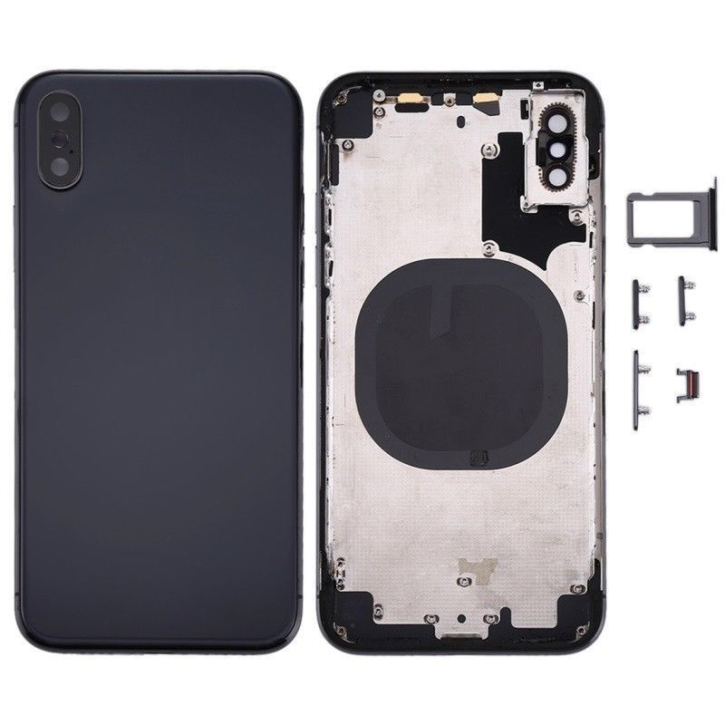 Back Cover Assembled Black pro Apple iPhone XS