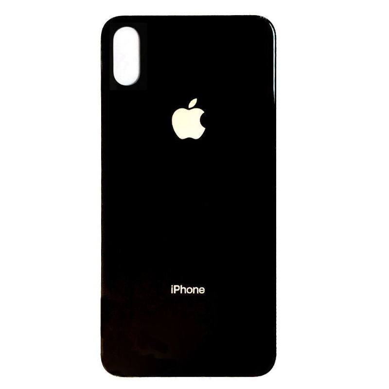Back Cover Glass Black pro Apple iPhone XS