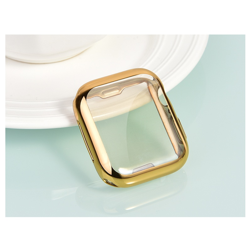 COTEetCI Apple Watch 4 TPU Fully Plated Protective Case 44mm Gold
