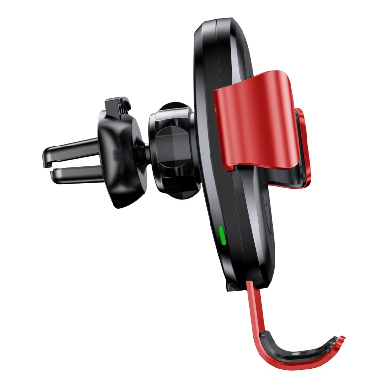 Baseus Wireless Charger Gravity Car Mount Red