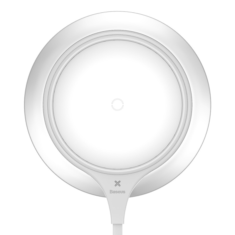 Baseus Metal Wireless Charger Silver + White