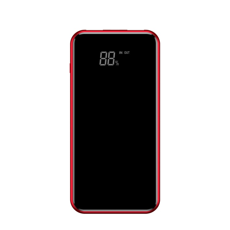 Baseus Full Screen Bracket Wireless Charge Power Bank 8000mAh Red