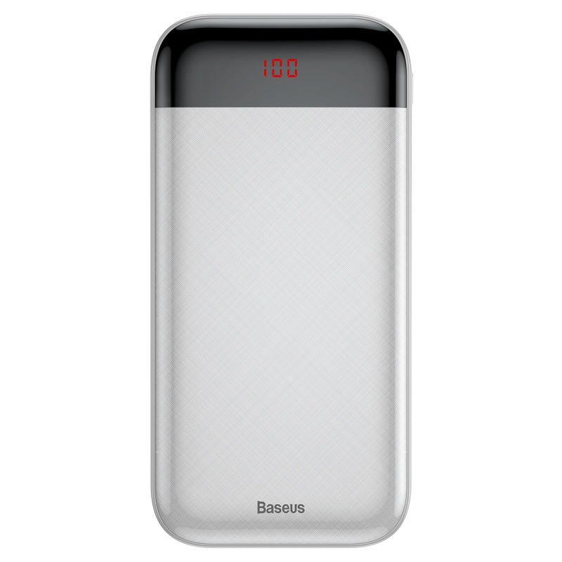 Baseus Mini Cu Digital Display Power Bank 20000mAh White