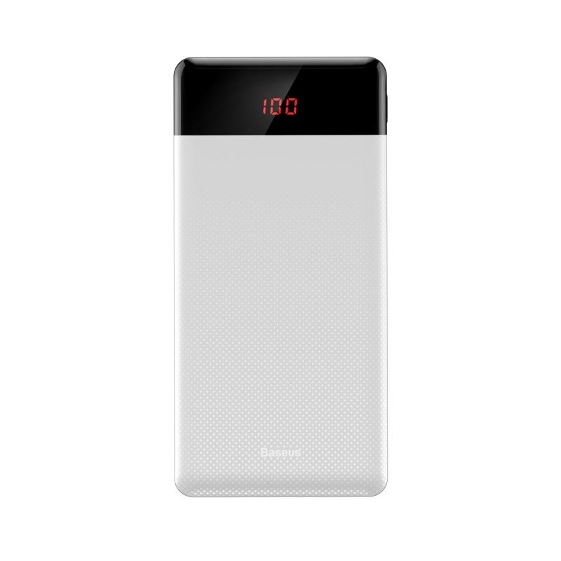 Baseus Mini Cu Digital Display Power Bank 10000mAh White