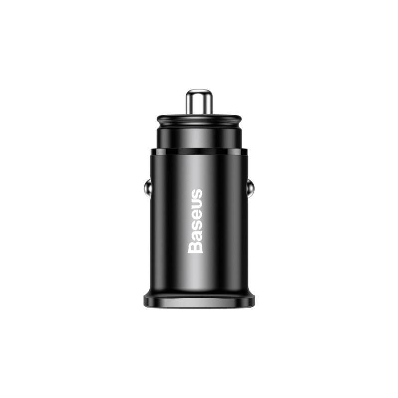 Baseus Square Metal A+C 30W PPS Car Charger (PD3.0 QC4.0+SCP AFC) Black