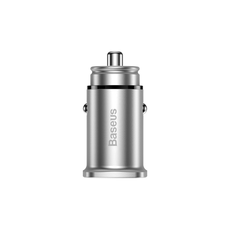 Baseus Square Metal A+C 30W PPS Car Charger (PD3.0 QC4.0+SCP AFC) Silver