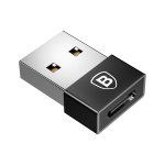 Baseus Exquisite USB Male to Type-C Female Adapter Converter Black