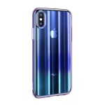 Baseus Aurora Case for iPhone XS Transparent Blue