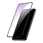 Baseus 0.2mm All-Screen Arc-Surface Anti-Blue Tempered Glass Film for iPhone XS Max Black