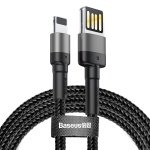 Baseus Cafule Cable USB for iPhone 1.5A 2M Grey + Black