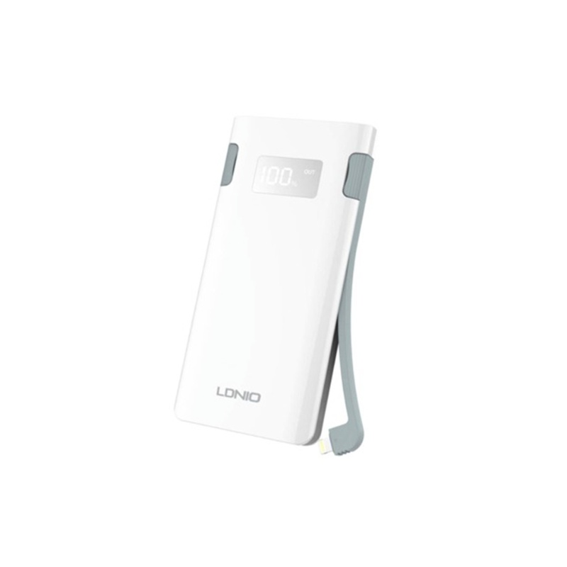 LDNIO Portable Power Bank 10000mAh with Micro USB and Lightning
