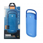 LDNIO Li-Ion Power Bank 10000mah with Charging Cable (Blue)