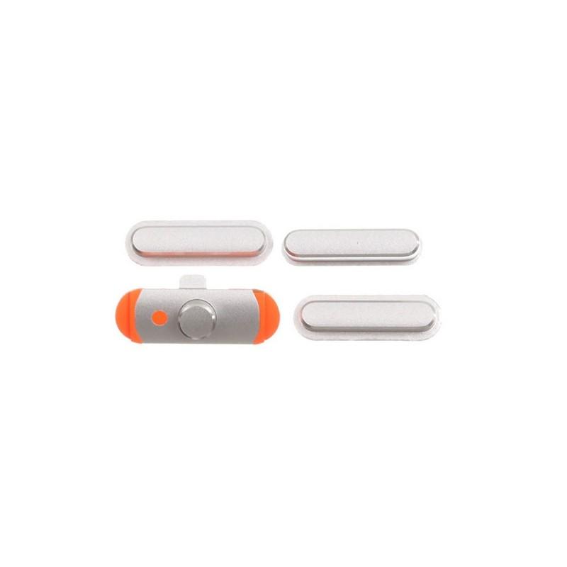 3 pcs set (volume/mute button/power) Silver pro Apple iPad Mini 1